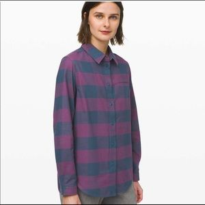 ♥️ Lululemon Full Day Ahead Shirt Size 2